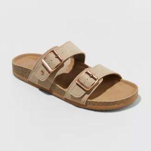 Womens Mad Love Black Milena Slide Sandal Slip On Glitter Rainbow Size 10